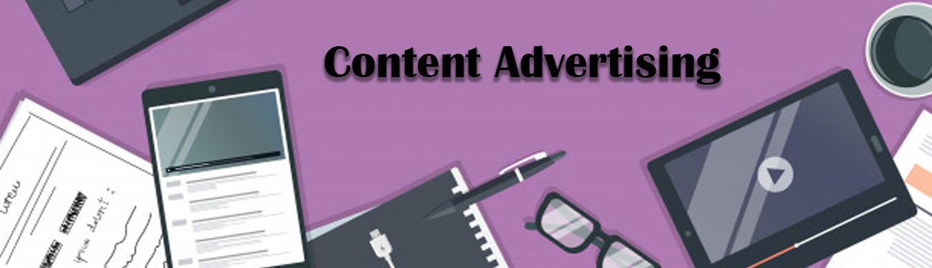 تبلیغات محتوایی (content advertising)